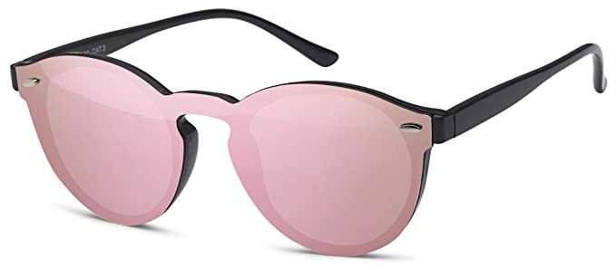 Brandneu Bestseller einkaufen suchen Randlose Sonnenbrille mit Flachglaslinsen verspiegelt und ...