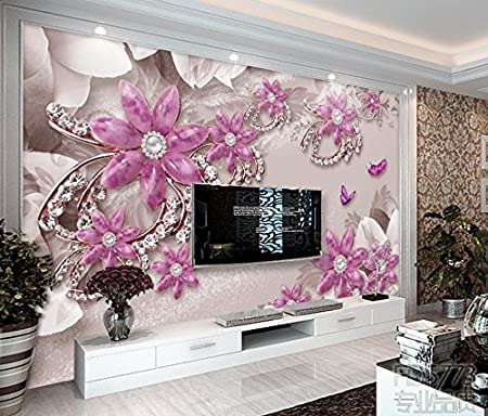 Yosot Custom 3d Wall Murals Wallpaper Jewel Flowers