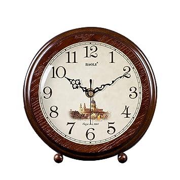 FOOFAY relojes de chimenea familiares Reloj de sobremesa Mute, Reloj de sobremesa con personalidad de