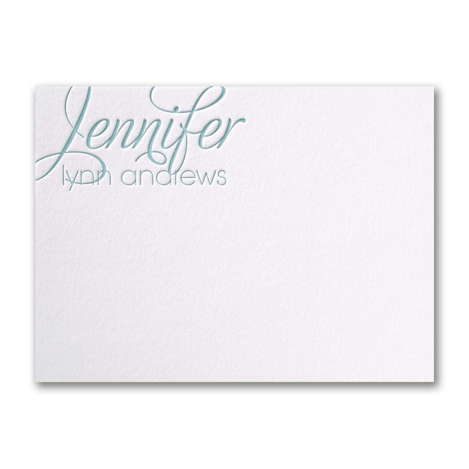 150pk Simply Perfect - Cotton Large Note Card - Letterpress - White-Shop All Stationery