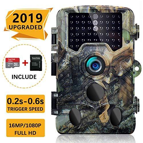 SOVACAM 【2019 Upgraded】 Trail Camera, 16MP 1080P 2.4