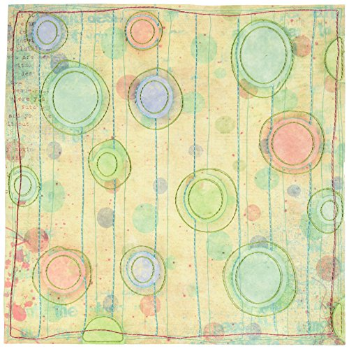 Prima 812959 12 by 12-Inch Art Stitched Mulberry Paper, Cheers Art Stitched Mulberry Paper