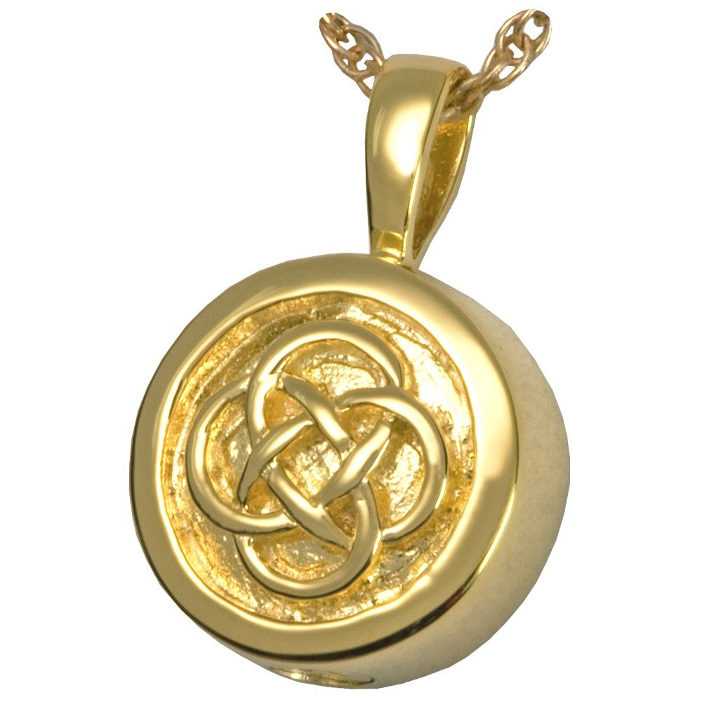 Memorial Gallery 3213yg Celtic Signet 14K Solid Yellow Gold (Allow 4-5 Weeks) Cremation Pet Jewelry