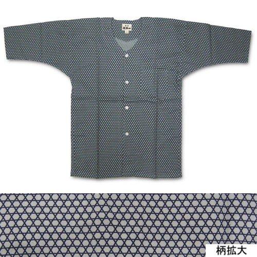 東京江戸一 鯉口シャツ かごめ(江戸小紋) (超巾広)
