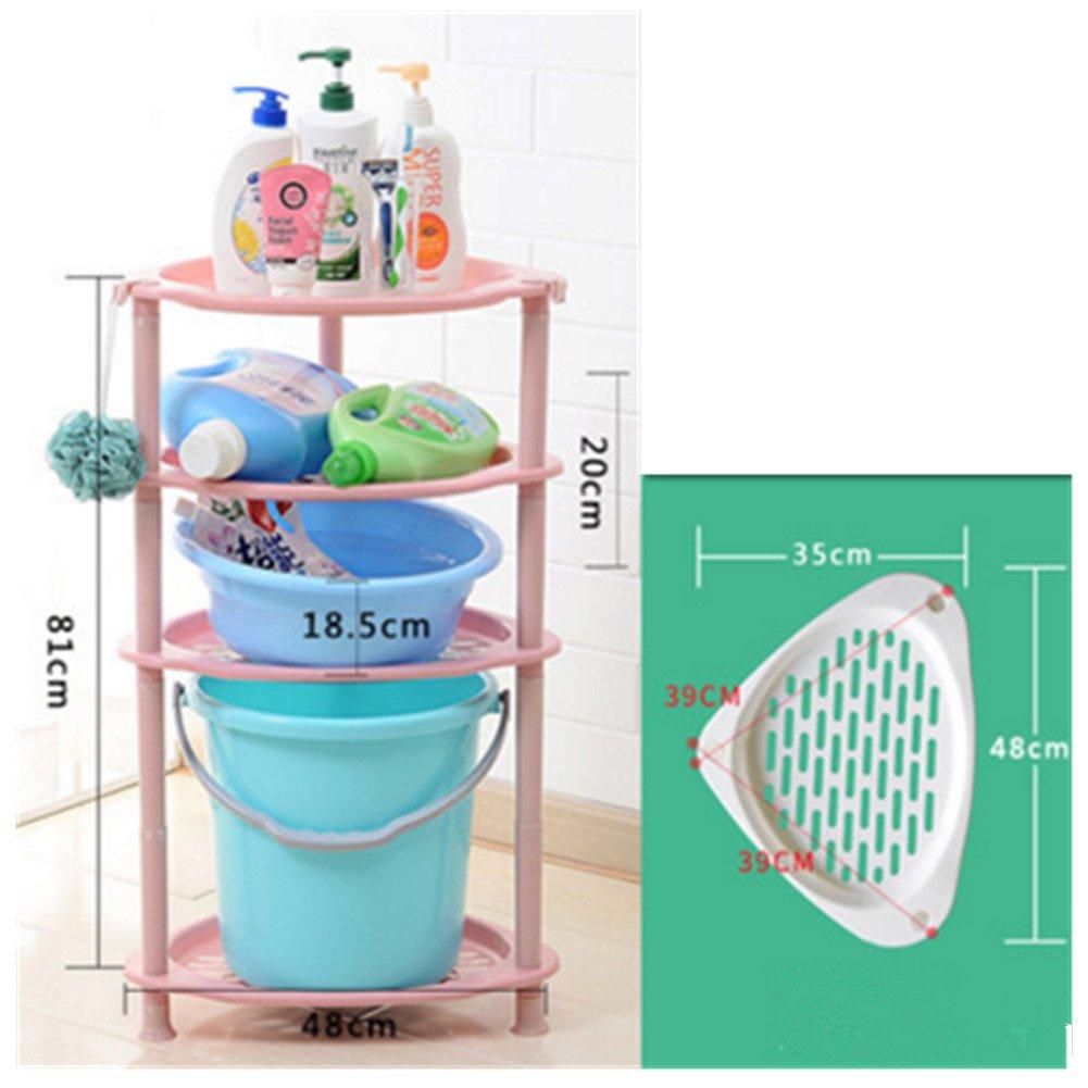 new 4 Tier Triangle Plastic Corner Shelf Organizer Bathroom Kitchen ...
