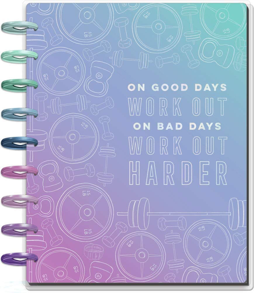 """The Happy Planner Year Round Classic Sized Planner - Fitness Planner for Women - Set Goals, Track Progress - Daily, Weekly & Monthly Layout - Undated - Portable, Inspirational - 7"""" x 9.25"""""""