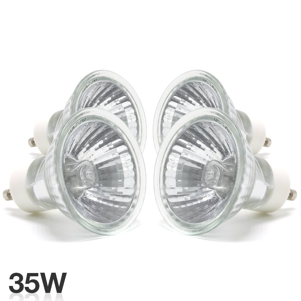 ETOPLIGHTING |4 Pack| Crips Bright Output GU10 Halogen Light Bulb 35 Watts 12 Volts 2 000 Life Hours APL1630