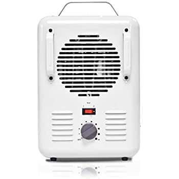 Tangkula Electric Heater, 1500W Home Office Portable Quartz Heater with Adjustable Thermostat and Easy-Carrying Handle, Tip-Over and Overheating Protection, Mini Table Heater, White