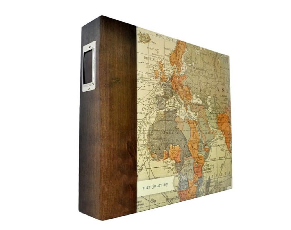 Project Life American Crafts Becky Higgens D Ring Picture Photo Album World Map 12 by 12