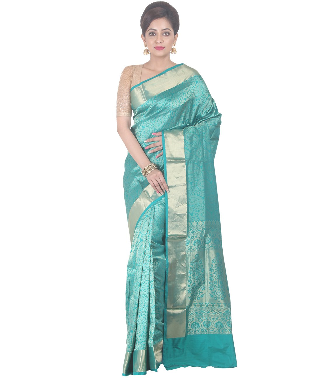 Indian Ethnic Upadda Silk Sky Blue Uppada Saree