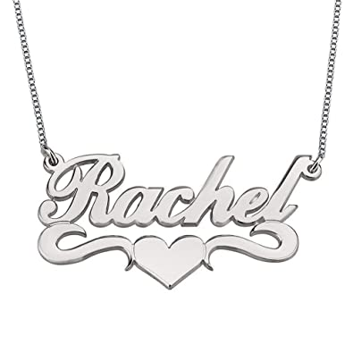 ad6e038fa8258 HACOOL Personalized Names Custom Name Necklace Pendant in 18K Gold Plated  Custom Made with Any Name Chain