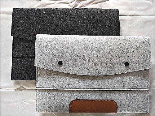 Wool Felt File Folder - 2 Pcs of 13 Inch Laptop Briefcase Portable Holder or Felt File Holder Felt File File Folder file folders Expanding Document Folder Luxury Office File Folders A4 Folders (2 PCs)