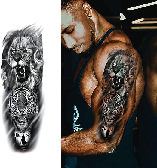 Tatuajes temporales de Brazo Completo, Tatuaje Adhesivo Body Art ...
