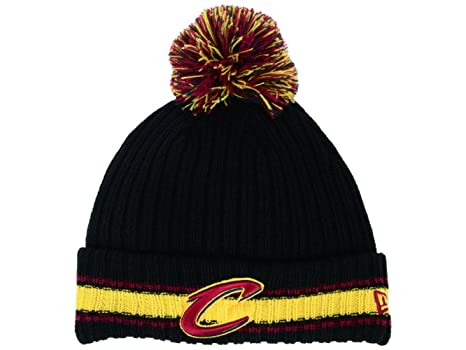 d154b5108c71f0 Image Unavailable. Image not available for. Color: New Era Cleveland  Cavaliers Adult Cuff Knit Beanie w/ Pom One Size Hat ...