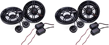 "Crunch 300W Full Range 2 Way 4 Ohm Component Car Audio 6.5/"" Speaker PairCS65C"