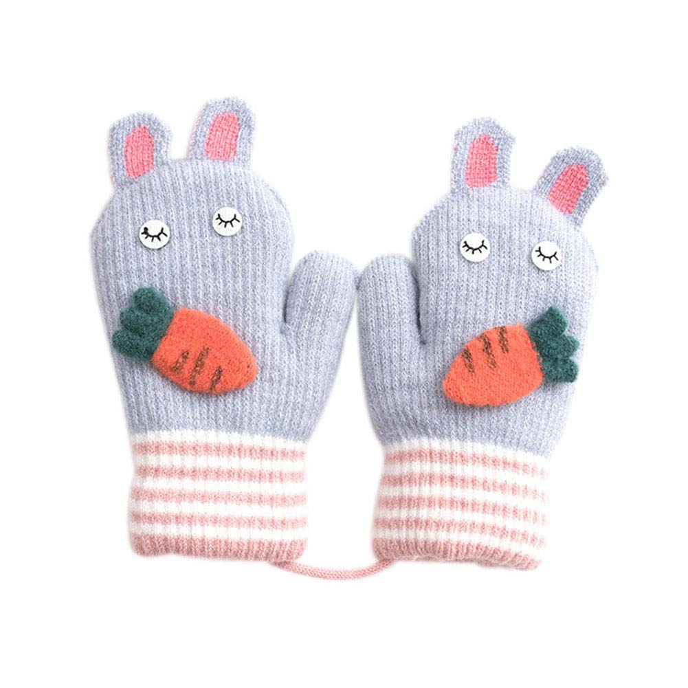 LAAT Kid Half Finger Gloves Cute Carrot Gloves Boys Girls Warm Gloves Winter Half Finger Gloves Fingerless Mitten Mittens Finger Gloves with Flip Top