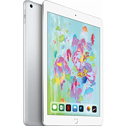 88412f9578e Amazon.com : Apple 9.7in iPad (6th Generation, 128GB, Wi-Fi Only, Silver)  (Renewed) : Computers & Accessories