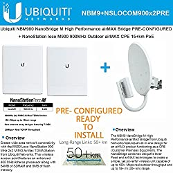 Ubiquiti Nanobridge Nbm900 900mhz Airmax Pre-conf + Nanostation Loco M9 2pack