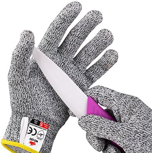 NoCry Cut Resistant Gloves for Kids, XS (8-12 Years) - High Performance Level 5 Protection, Food Grade. Free Ebook Included!