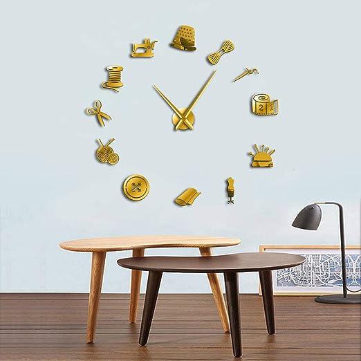 Knncch 27 Pulgadas De Oro Tailor Shop DIY Reloj De Pared Gigante ...