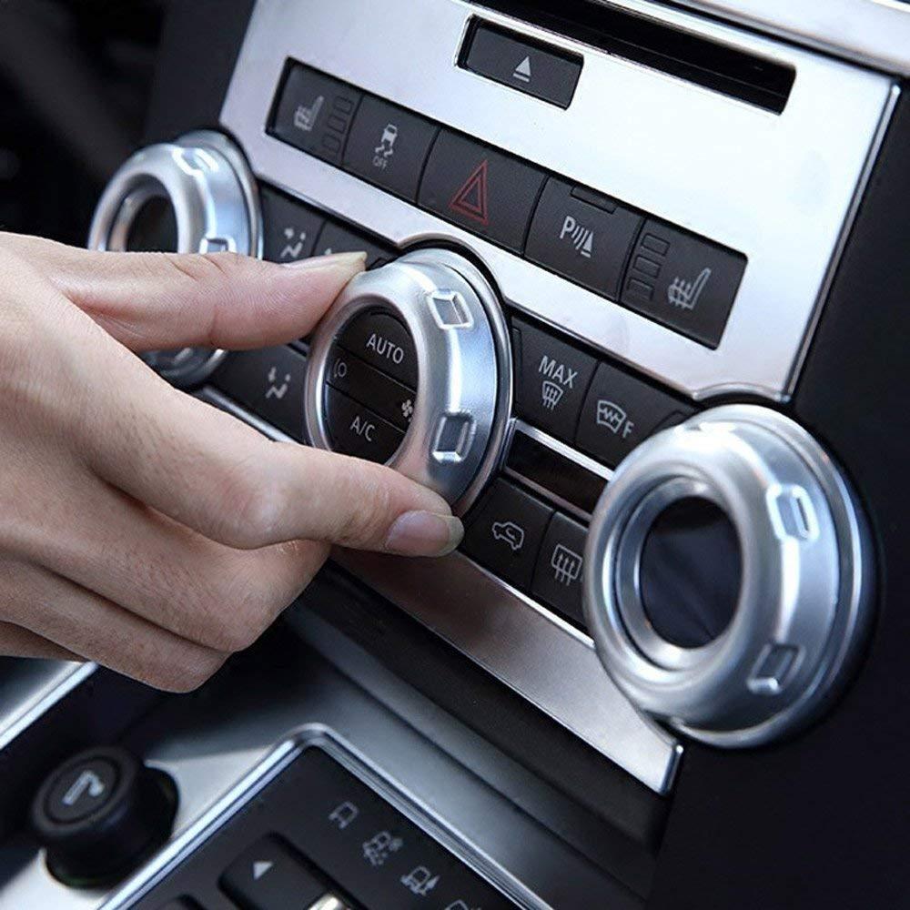 Bouton de commutateur de Volume en Plastique ABS Boutons de climatisation de climatisation Garniture de Voiture Accessoire pour Range Rover Sport 2010-2013