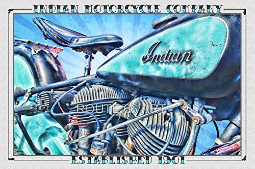 (Indian Motorcycle Flathead Vintage Art Print)