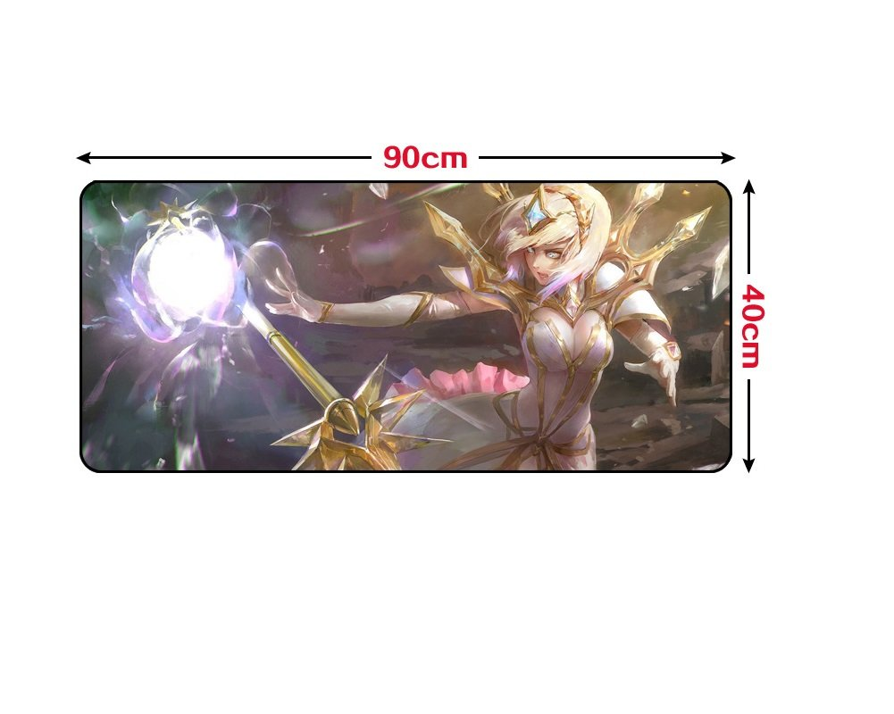 "Yvetel League of Legends LOL Jinx Soft Smooth Gaming Mouse Pad Mouse Mat(35.4 ""x 15.7""x0.12""), Design for League of Legends (Lux)"