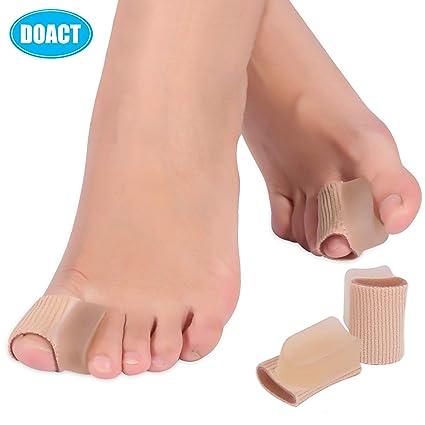 Doact 4pcs separadores dedo del pie Hallux Valgus Corrector almohadillas de gel, pulgar juanete férulas