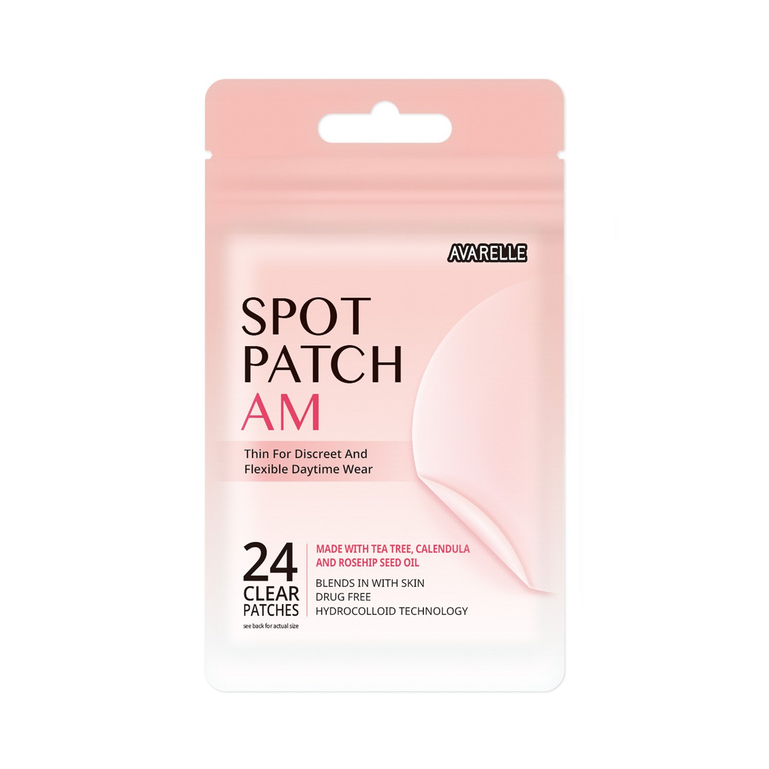Acne Spot Patch AM Daytime Hydrocolloid With Essential Oils (24 Count)