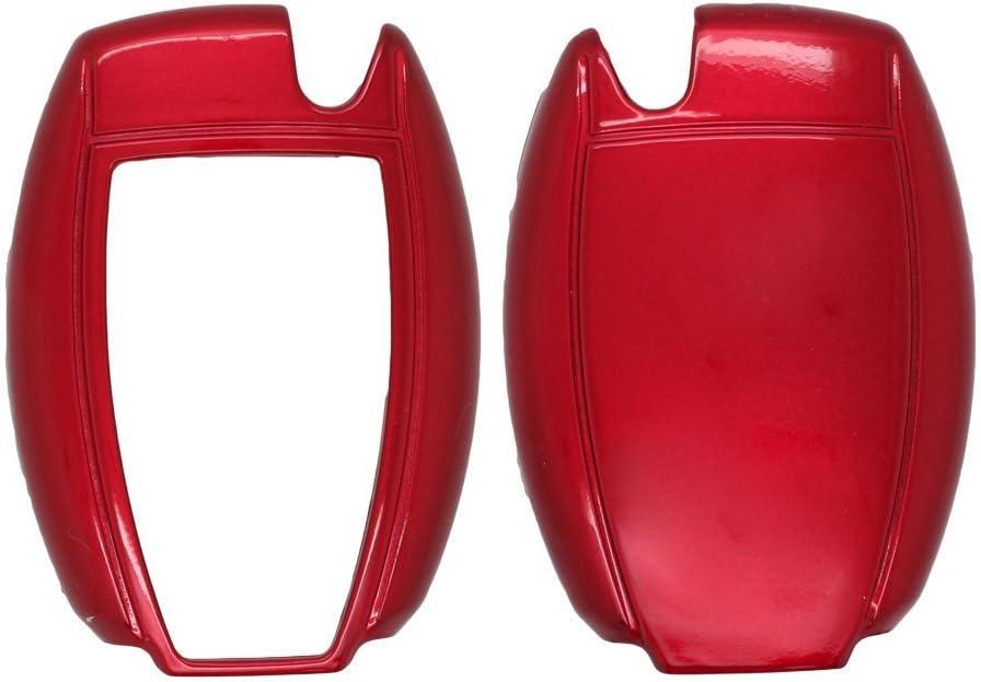 fassport Peinture couleur m/étallique Shell Housse Coque Support pour Mercedes Benz Smart T/él/écommande Cl/é 0950