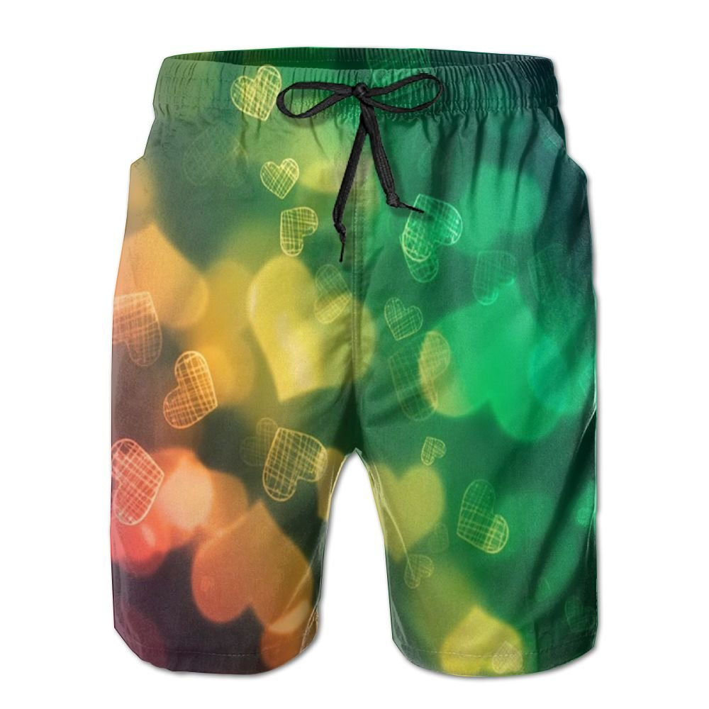 PIN Lightweight Quick Dry Love Beach Shorts Swim Trunks Beach Pants