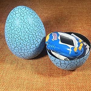 Basage Electronic Pets Toy Key Digital Pets Tumbler Dinosaur Egg Virtual Pets blue