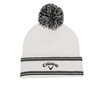 Callaway 2015 Weather Series Pom Pom Beanie Mens Golf Winter Bobble Hat  White 462155582003