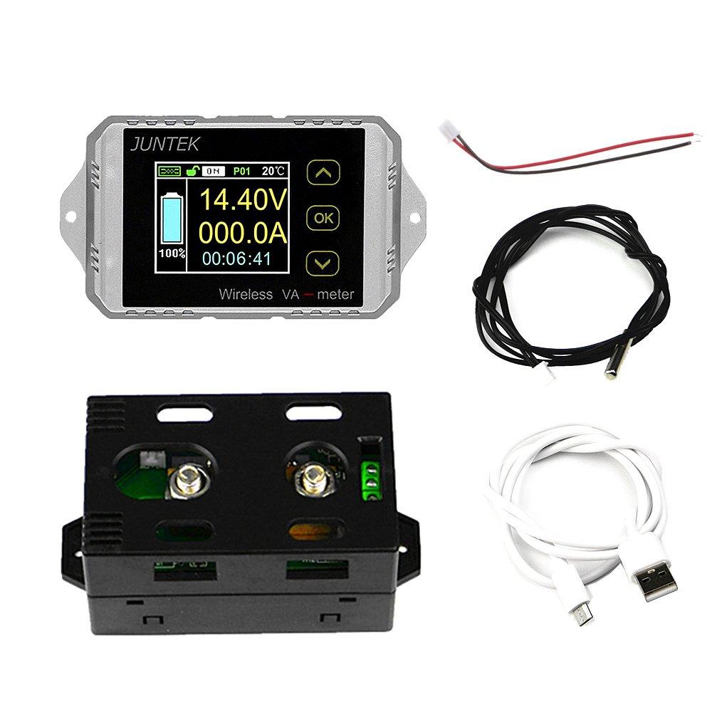 Qisuw Wireless Digital Voltage Current Watt Power Capacity Digital Combo Meter VAT4300A DC400V 300A