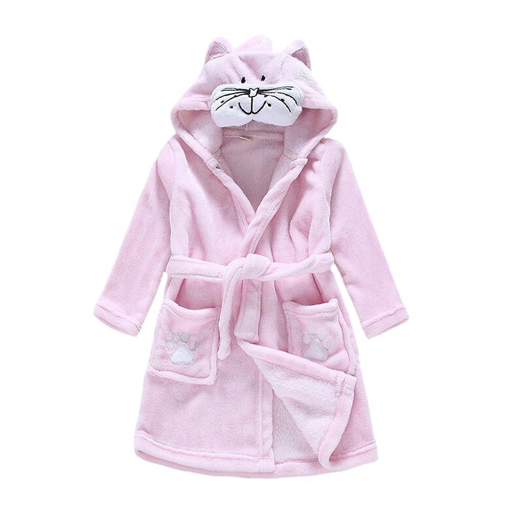 JZLPIN Unisexo Bebé Chicos Chicas Franela Bata de Baño para Niños Encapuchado Pijama Dressing Gown: Amazon.es: Ropa y accesorios