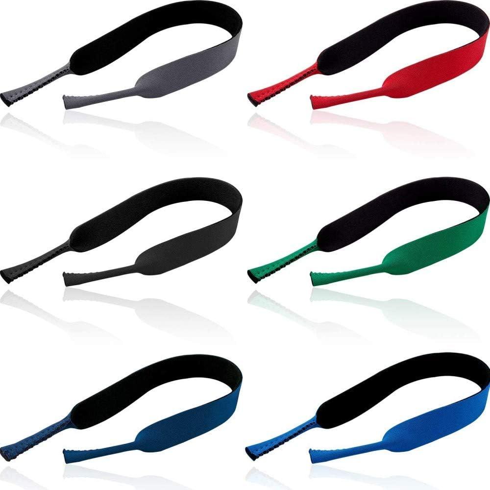 DAYANLONG 6 Pieces Floating Eyewear Retainer Eyeglass Strap Neoprene Eyewear Holder Soft Floating Sunglasses Straps for Sports Outdoors Water Activities Color Set 1