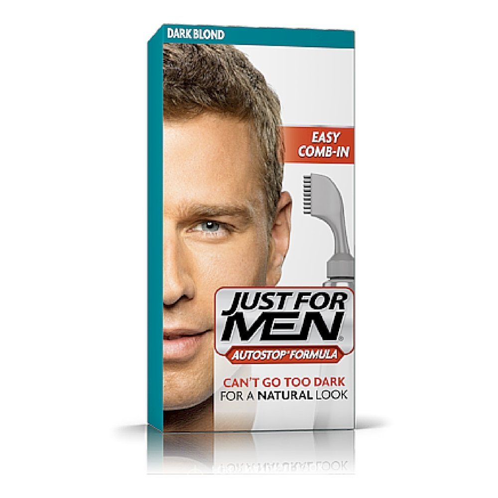 Just For Men Easy Comb-In Color (Formerly Autostop), Gray Hair Coloring for Men with Comb Applicator - Dark Blond, A-15 (Packaging May Vary)