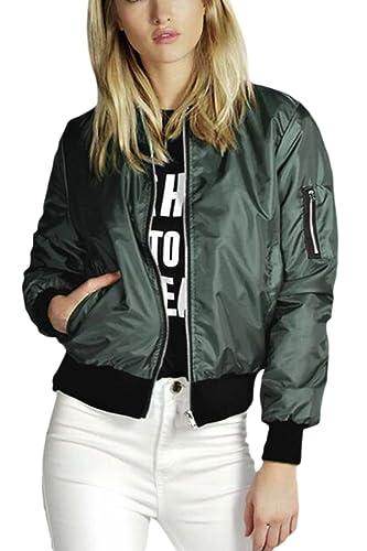 La Mujer Casual Loose Long Sleeve Zipper Frontal Abierto Chaquetas Outwear