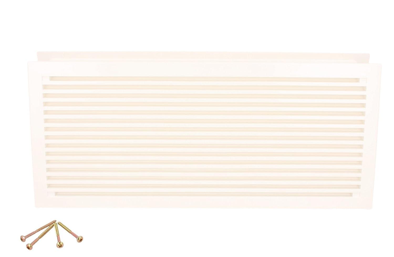 lichtgrau L/üftungsgitter T/ürl/üftung aus Kunststoff in verschiedenen Farben 290 x 125 mm