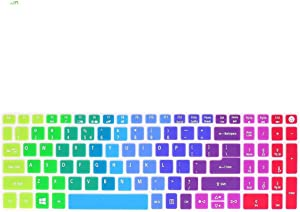 15.6 inch Silicone Keyboard Cover Protector for Acer Aspire E15 E 15 E5 576 E5576 V3 V15 E5 553G/575G / Aspire 3 5 7 Series-Rainbow-