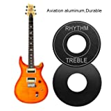 Dilwe 2 Pack Guitar Toggle Plate, Aviation Aluminum Electric Guitar Toggle Marker Switch Washer Plate for LP Electric