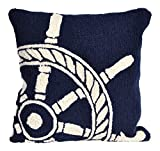 Liora Manne Whimsy Skipper Indoor/Outdoor Pillow, Navy