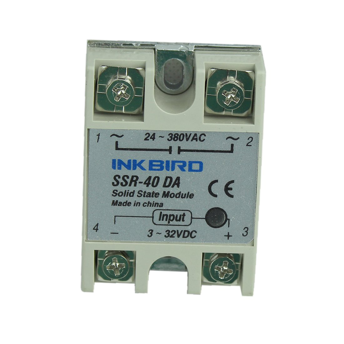 Inkbird 40a Ssr Solid State Relay 40da 3 32v Dc To Wiring Diagram In Addition Circuit 24 380v Ac Home Improvement