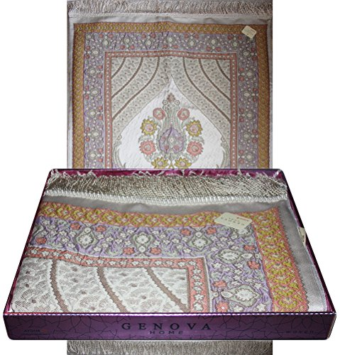 Luxury Wide Thin Islamic Prayer Mat in Gift Box - Jacobea...