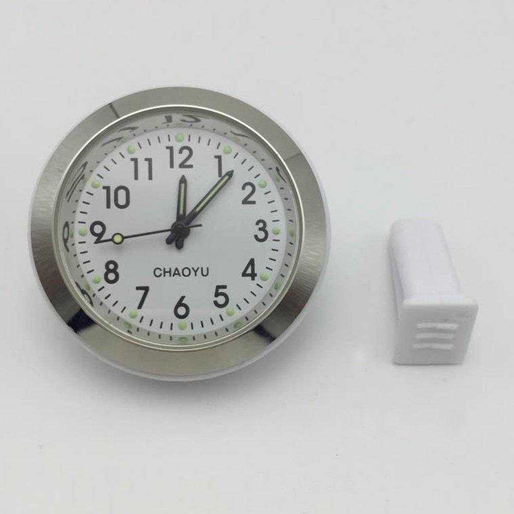 Automotive Air Conditioner Vent Dashboard Small Round Analog Quartz Astral Movement Perfume Car Clock (Black) ANKIA
