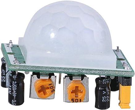 Nouveau HC-SR501 PIR humain Détecteur de mouvement Corps Pyroélectrique Infrarouge SR501 Détecteur