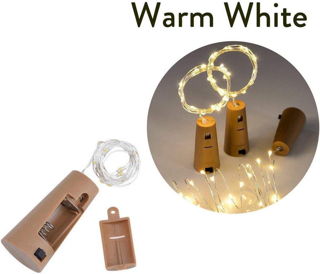 Anam Safdar Butt Led Cork Light String Lumineux Fil De Cuivre D/écoration De Vacances Lumi/ères 10 Lumi/ères 15 Lumi/ères Batterie Bo/îte Lumi/ères De Li/ège