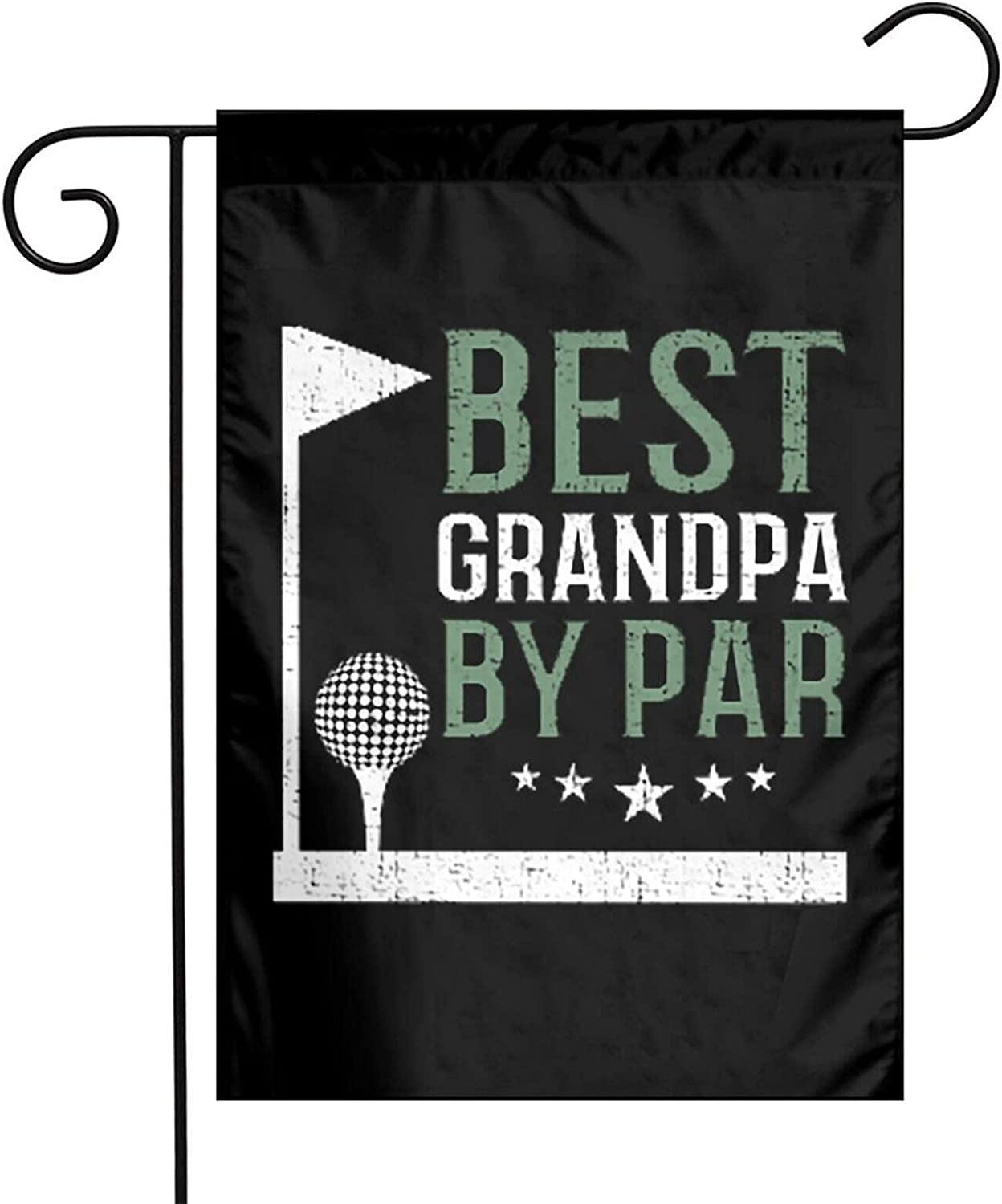 Leumius Best Grandpa by Par Golf Lover Fathers Day Funny Grandpa Garden Flag,Double Sided Yard Flag, Outdoor Indoor Patio Home Decor 12x18 Inch