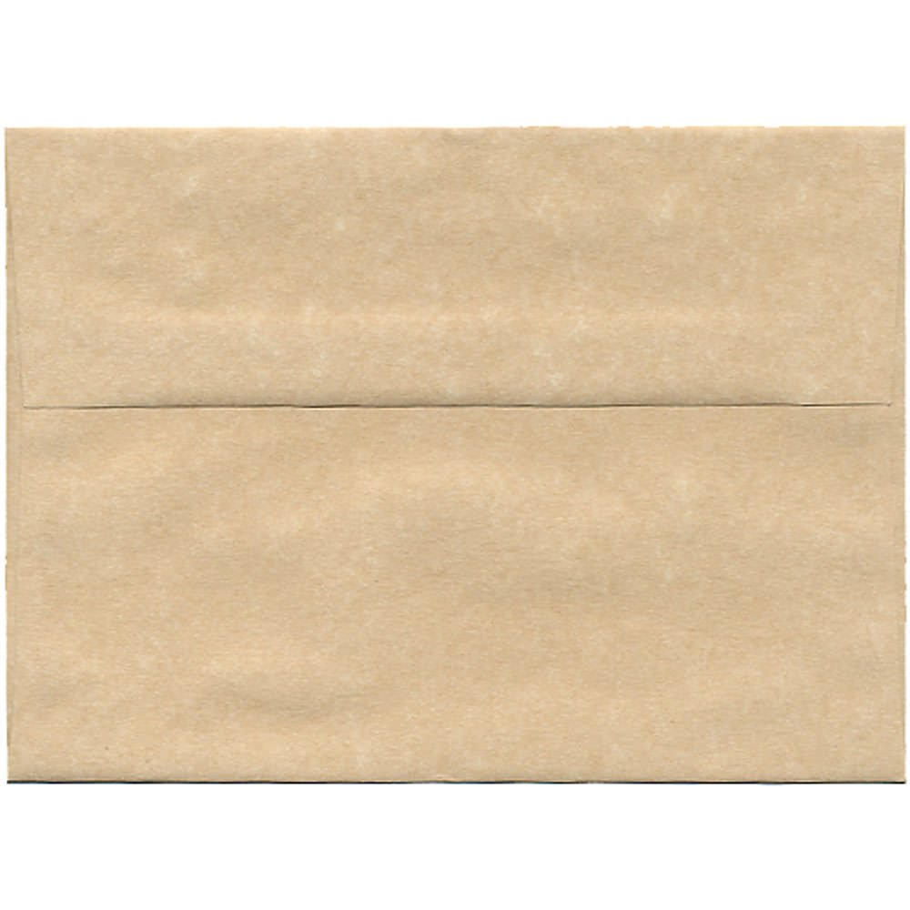 JAM Paper A7 Invitation Envelope - 133.35mm x 184.15 (5 1/4 x 7 1/4) - Parchment Brown Recycled - 25/pack 35311