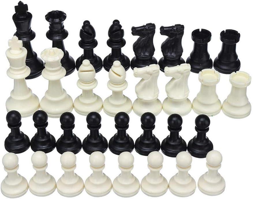 Juego de Mesa de Viaje Juego de ajedrez Plegable Rey Caballero Conjunto Recreación al Aire Libre Familia Niños Viajar Camping Juego de 32 Piezas para niños y Adultos: Amazon.es: Hogar